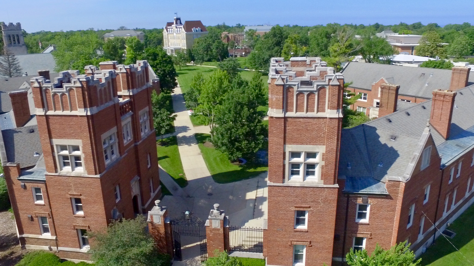 Aerial photo of middle campus