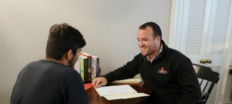 More than just a number or application file, our counselors interview applicants to learn their unique stories. It's encouraging for both the applicant and the counselor to get a feel for how that student might fit in on our campus.