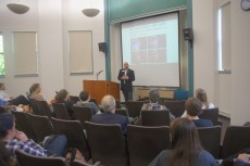 "Many students, faculty, and staff members attended to hear Jared's talk, ""My Experience With Hate."""