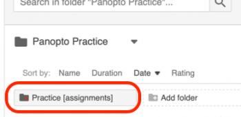 assignment folder