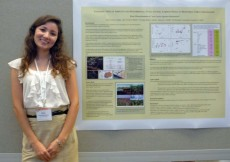 "Elina Dilmukametova's poster was titled ""The contribution of arbuscular mycorrhizal fungi to soil carbon pools in r..."