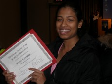 Madhavi Senagolage '12 honored for Parkinson's disease research at the 2011 Chicago Neuroscience Meeting