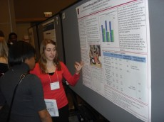 Richter Scholar Alyssa Parr '13 presenting her behavioral neuroscience research