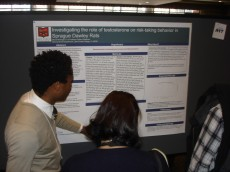 Neuroscience senior Menzi Mhlanga '11 presenting his  senior thesis research done at Lake Forest College