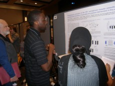 Pascal Accoh '12 presenting his neuroscience research done as an LFC-RFUMS summer research fellow to several conference pa...