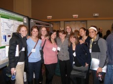 Lake Forest psychology, biology and neuroscience majors at the poster session.