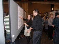 Lake Forest College Biology alumnus Daryn Cass '10 presents her neuroscience research.  Daryn is a research technicia...