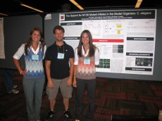 Lynn Switaj '11 and Anneliese Szutenbach '12 with their senior thesis faculty advisor, Assistant Professor of Biology ...