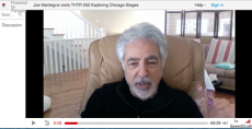 Actor Joe Mantegna visits a live Zoom theater class.