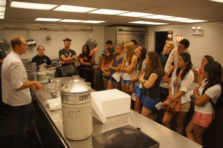 Students learn the science behind the cooking in a top restaurant in Chicago.