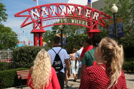 Students travel to Chicago's Navy Pier to explore the popular scene.