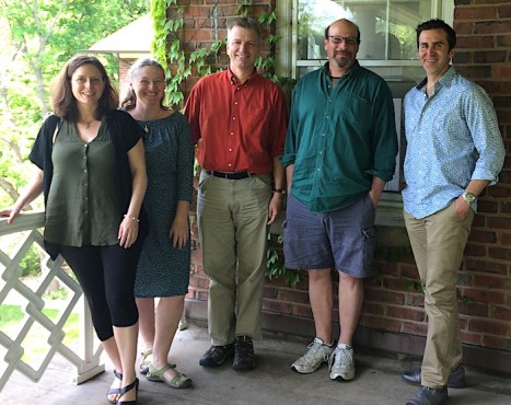 2015 Chicago Fellows, left to right: Rebecca Graff, Holly Swyers, Don Meyer, Ben Goluboff, Miguel de Baca