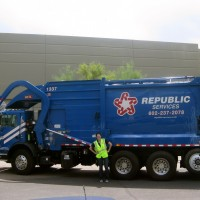 During her summer internship at Republic Services, Jenna Moorehead rode along on a 13-hour shift on a sanitation truck.
