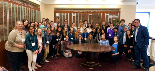 Picture of the Lake Forest College students and professors that attended the event