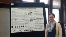 "Margaret Fortman presenting a poster on her Richter project ""On Tupper's Self-Referential Formula"" from June 2015."