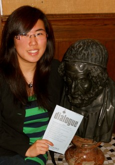 Mia Kim Taehee, pictured with a statue of Greek philosopher Homer, will present her work at an undergraduate symposium at ...