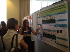 Katrina Campbell '14 presenting Parkinson's research at the 2012 GLC-ASPET meeting