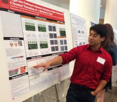 Saul Bello Rojas '16 won the second prize among undergraduates at the 2015 GLC-ASPET meeting.
