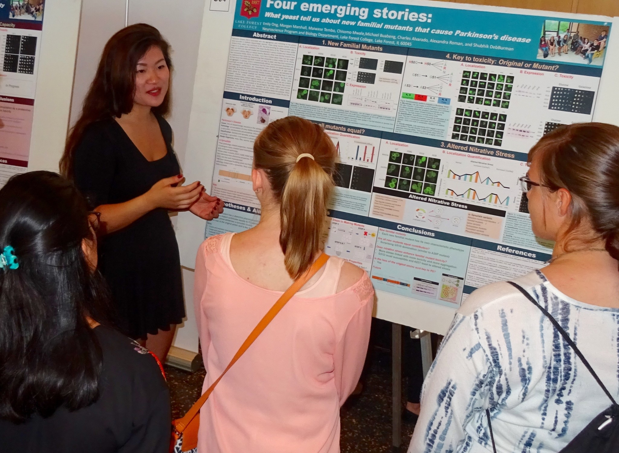 Neuroscience senior Emily Ong '17 co-received the second prize for her Parkinson's Disease research at the 2016 GLC-ASPET ...