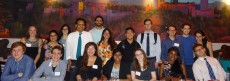 Lake Forest students, alumni, and faculty celebrate student success over a Spanish tapas dinner at the 2016 Great Lakes Ch...
