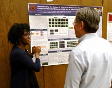Chisomo Mwale '19 received first prize among undergraduates for her Parkinson's Disease work conducted at Lake Forest Coll...