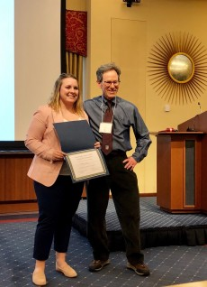 Neuroscience and Psychology senior Abby King '19 wins the Third Prize in the undergraduate competition.