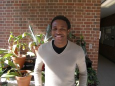 Menzi Mhlanga '11 is a senior majoring in psychology and neuroscience. He is role-playing Dr. Charles Zuker from HHMI...