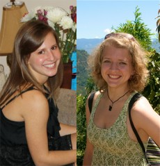 Kayla Ahlstrand `12 (left) and Carliann Pentz `13 (right) will have their research article published before they graduate ...