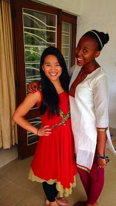 Lake Forest Students Kimiko Fujioka Guillermo and Samu Ngwenya.