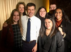 Mayor Pete Meets with Politics Class