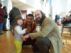 Professor Ben Zeller took his family to see the Tibetan Monks.
