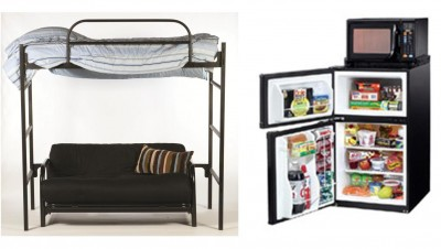 bedloftcom by collegiate marketing provides loft microfridge and rentals for lake forest college students - Micro Fridge