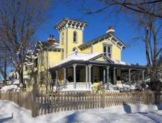Gray House in winter