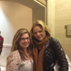 Shelby Homiston '17 with opera superstar Renee Fleming!