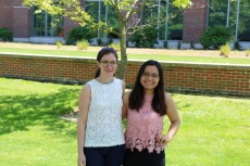 Assistant Professor of Spanish Denise Kripper (left) poses with Richter Scholar Victoria Cisneros '20 (right), who is re...