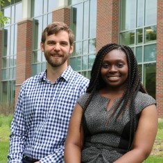 Assistant Professor of Chemistry Paul Gladen and Annmarie Buabeng '21