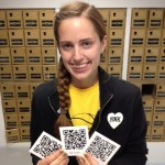 Tara Busse '13 made 12 QR codes for the project. She used old copies of the Forester to gather research.