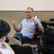 John Newlin '94 visited campus to meet with students and share his professional journey.