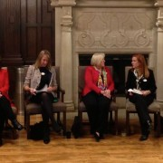 Chicago-area business women were on campus for a panel discussion during a meeting of the news Women in Biz group on campus.