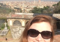 Transfer student Kelley Nugent '16 enjoyed Florence, Italy, during her study abroad.