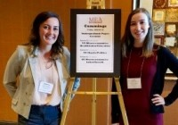 Katherine Beall '18 (left) and Lauren Bell '18 at the Midwest Economics Association conference.