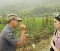 Minxu Zhang '12, right, has been working with local farmers and experts in China on a food-safety project with Lesley Gao ...