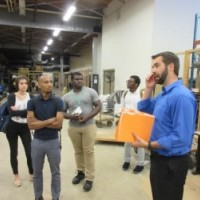 Students toured World Relief as part of their summer research.