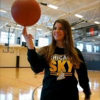 Kyra Vidas '18 landed an exciting internship with the WNBA's Chicago Sky this summer.