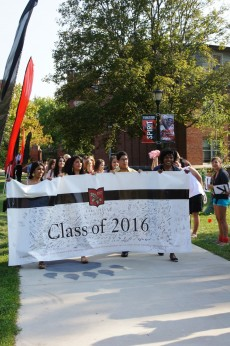The Class of 2016 on their way to Matriculation