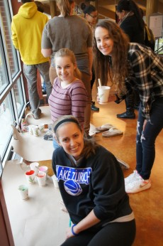 This student group had big plans for their window painting of Cinderella, complete with pumpkins.