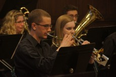 The Lake Forest College Concert Band followed, performing three pieces.