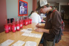 Many students chose to write their note to donors whose scholarship fund is supporting their education.