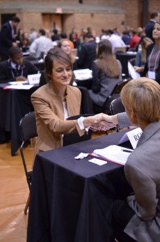 Professionals and students met in five-minute sessions to explore a possible future together.