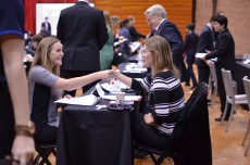 Making connections through the College's annual Speed Networking event has grown every year.